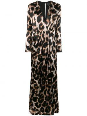 Шелковое платье макси с запахом с вырезом Philipp Plein