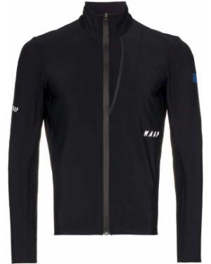 Приталенная спортивная черная зимняя куртка с воротником Maap