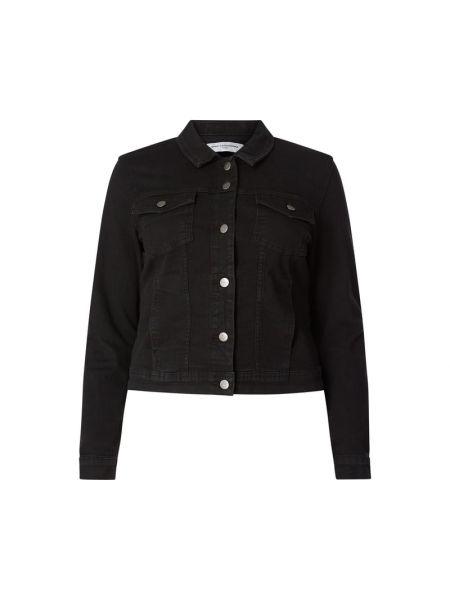 Czarna kurtka jeansowa bawełniana Only Carmakoma