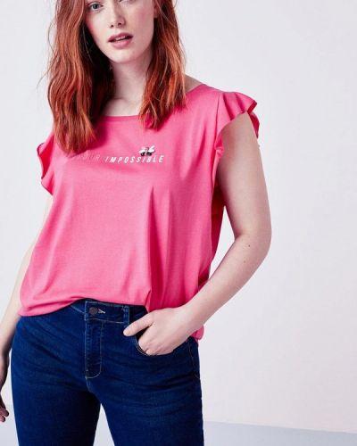 Розовая футболка Violeta By Mango