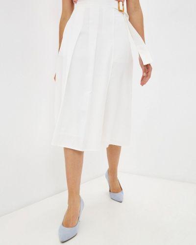 Белая юбка свободного кроя Unq