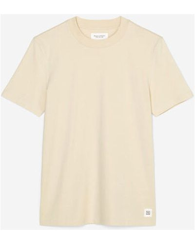 Beżowy t-shirt bawełniany Marc O Polo