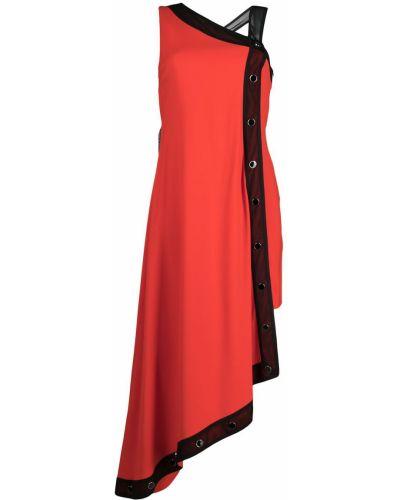 Красное платье миди без рукавов из вискозы Just Cavalli