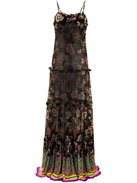 Прямое тонкое платье макси со вставками с вырезом Alexis