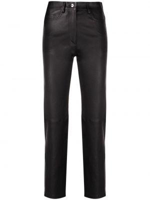 Кожаные брюки - черные Joseph