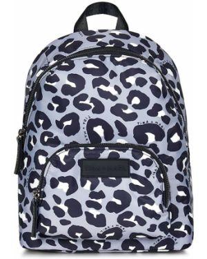 Czarny plecak z nylonu z printem Tiba + Marl