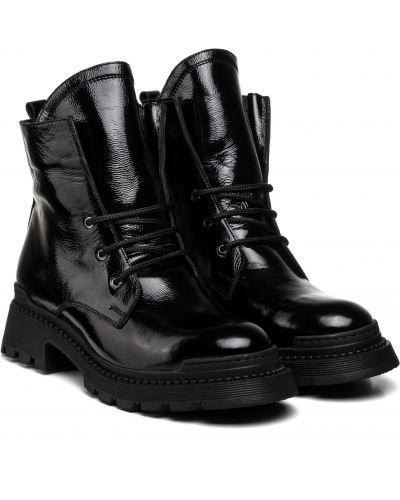 Ботинки с мехом - черные Aquamarin
