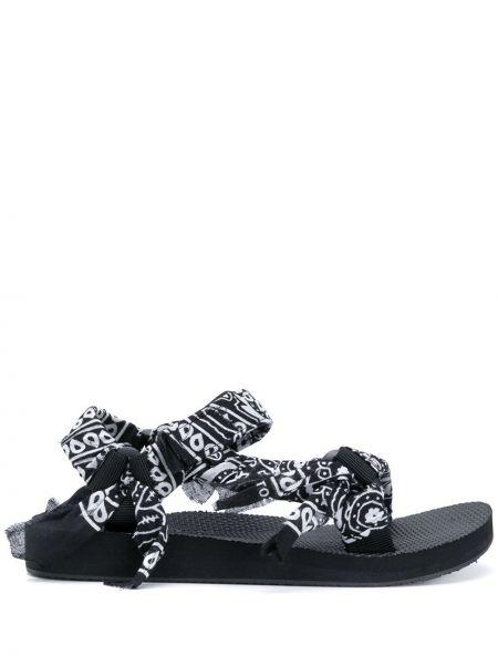 Czarne sandały peep toe Arizona Love