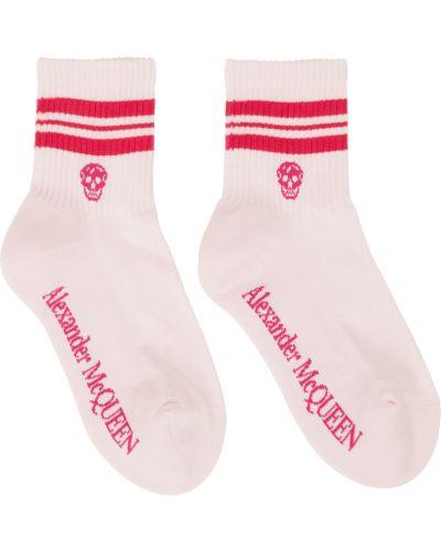Розовые носки с черепами Alexander Mcqueen