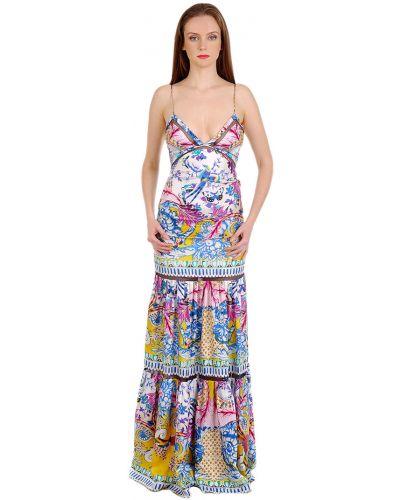 Платье шелковое весеннее Roberto Cavalli
