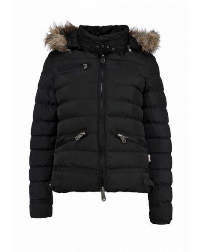 Утепленная куртка черная весенняя Lonsdale