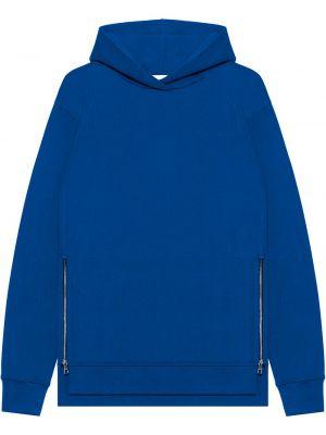 Niebieska bluza długa z kapturem z długimi rękawami John Elliott
