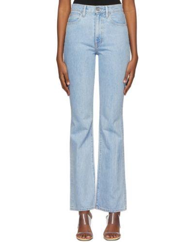 Расклешенные серебряные расклешенные джинсы стрейч Slvrlake