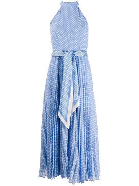 Платье с поясом в горошек на молнии Zimmermann