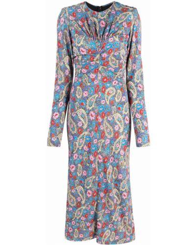Платье миди с принтом - черное Isabel Marant