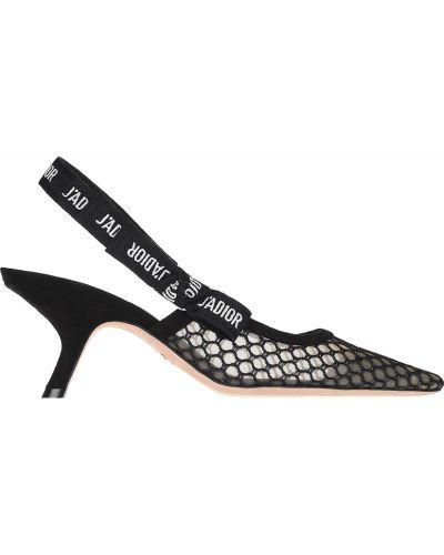 Кожаные босоножки - черные Christian Dior
