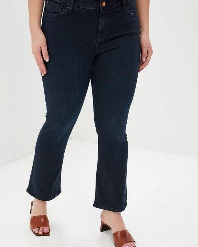 Широкие джинсы расклешенные синие Colin's