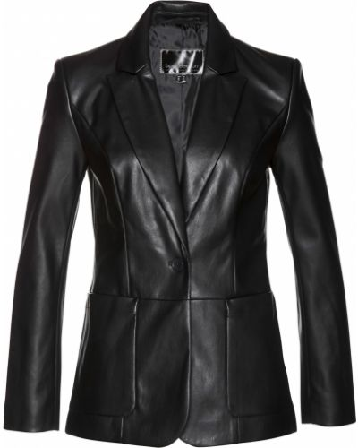 Кожаный черный пиджак Bonprix