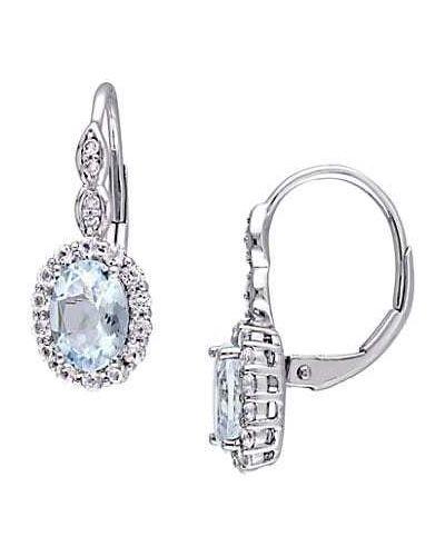 Серьги-гвоздики золотые с бриллиантом круглые Saks Fifth Avenue