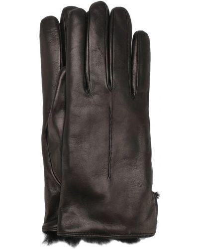 Перчатки с мехом с меховой подкладкой кожаные Sermoneta Gloves