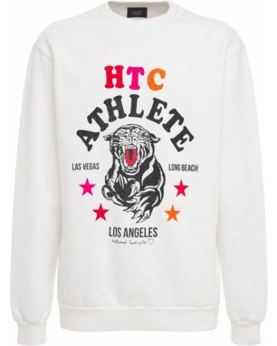 Prążkowany biały sweter bawełniany Htc Los Angeles
