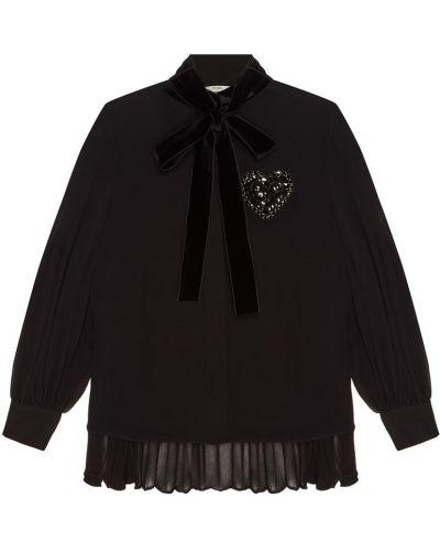 Блузка с пышными рукавами с воротником-стойкой Fendi