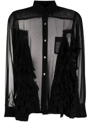 Черная классическая рубашка с длинными рукавами с воротником Comme Des Garçons Comme Des Garçons