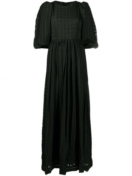 Черное расклешенное платье мини с вырезом на молнии Stine Goya