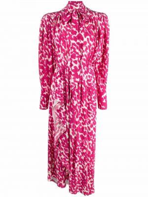 Шелковое платье миди - розовое Isabel Marant
