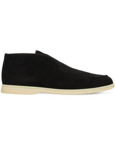 Замшевые туфли с подкладкой со вставками Loro Piana