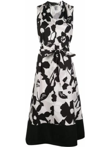 Черное платье с воротником на молнии без рукавов Natori