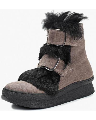 Ботинки замшевые серый Ilvi