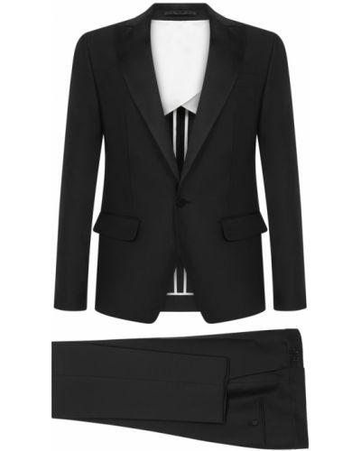 Czarny garnitur elegancki Dsquared2