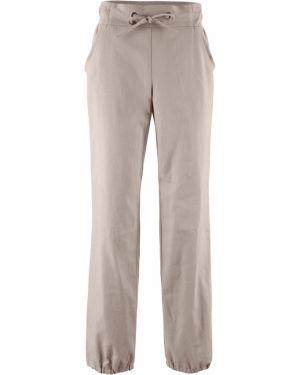 Свободные брюки льняные серые Bonprix