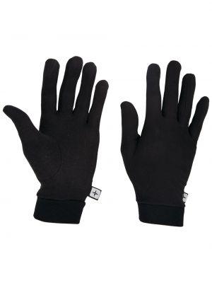 Ciepłe czarne rękawiczki z jedwabiu Mountain Warehouse