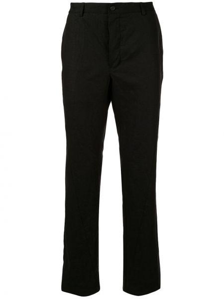 Черные прямые брюки на пуговицах с карманами новогодние Forme D'expression