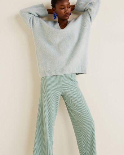 Свободные брюки с поясом из вискозы Mango