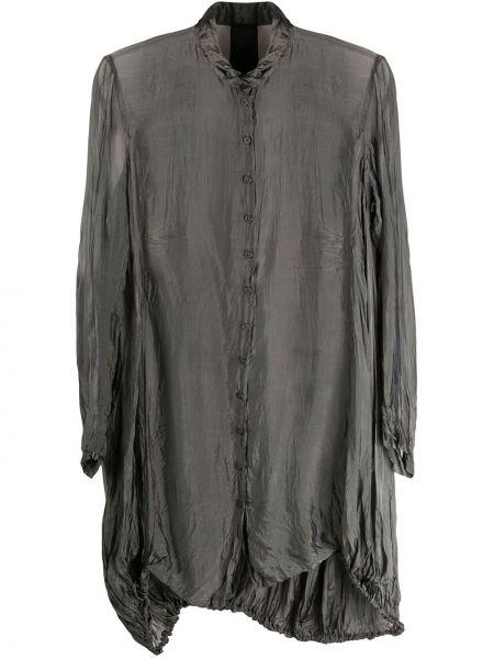 Шелковое платье макси - серое Rundholz