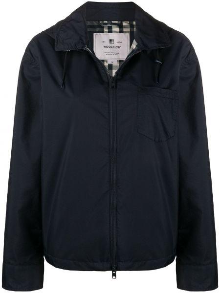 Куртка с капюшоном на молнии на пуговицах Woolrich