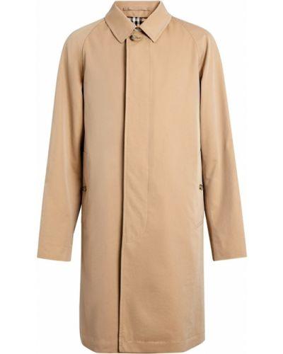 Бежевое пальто с воротником на пуговицах Burberry