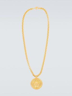 Złoty naszyjnik oversize Versace