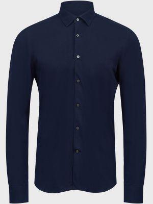 Хлопковая рубашка - синяя Lab. Pal Zileri