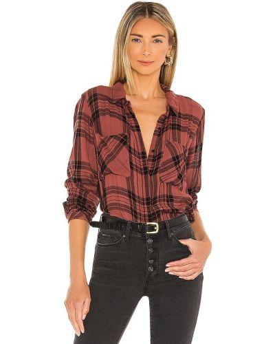Рубашка в клетку - бордовая Bella Dahl