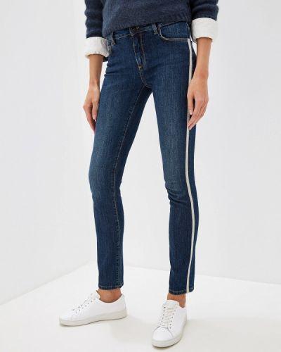 Джинсы-скинни mom синие Trussardi Jeans