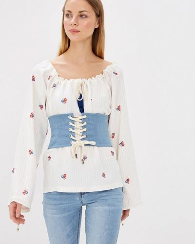Белая блузка с открытыми плечами Fashion.love.story