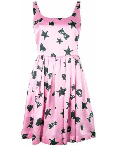 Платье шелковое с квадратным вырезом Moschino