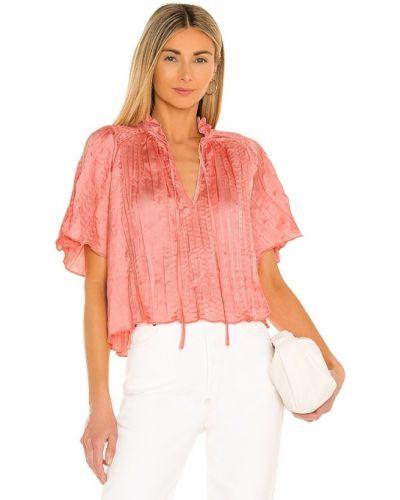 Сатиновая красная блузка с американской проймой Bcbgeneration