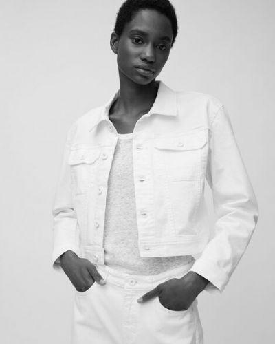 Biała kurtka jeansowa bawełniana Marc O Polo