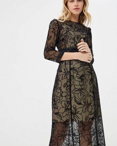 Вечернее платье осеннее черное Irina Vladi