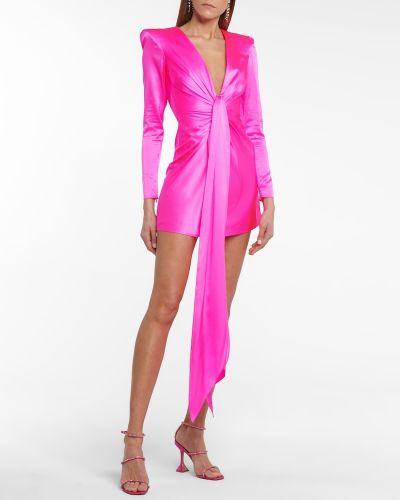 Satynowa różowa sukienka Alex Perry